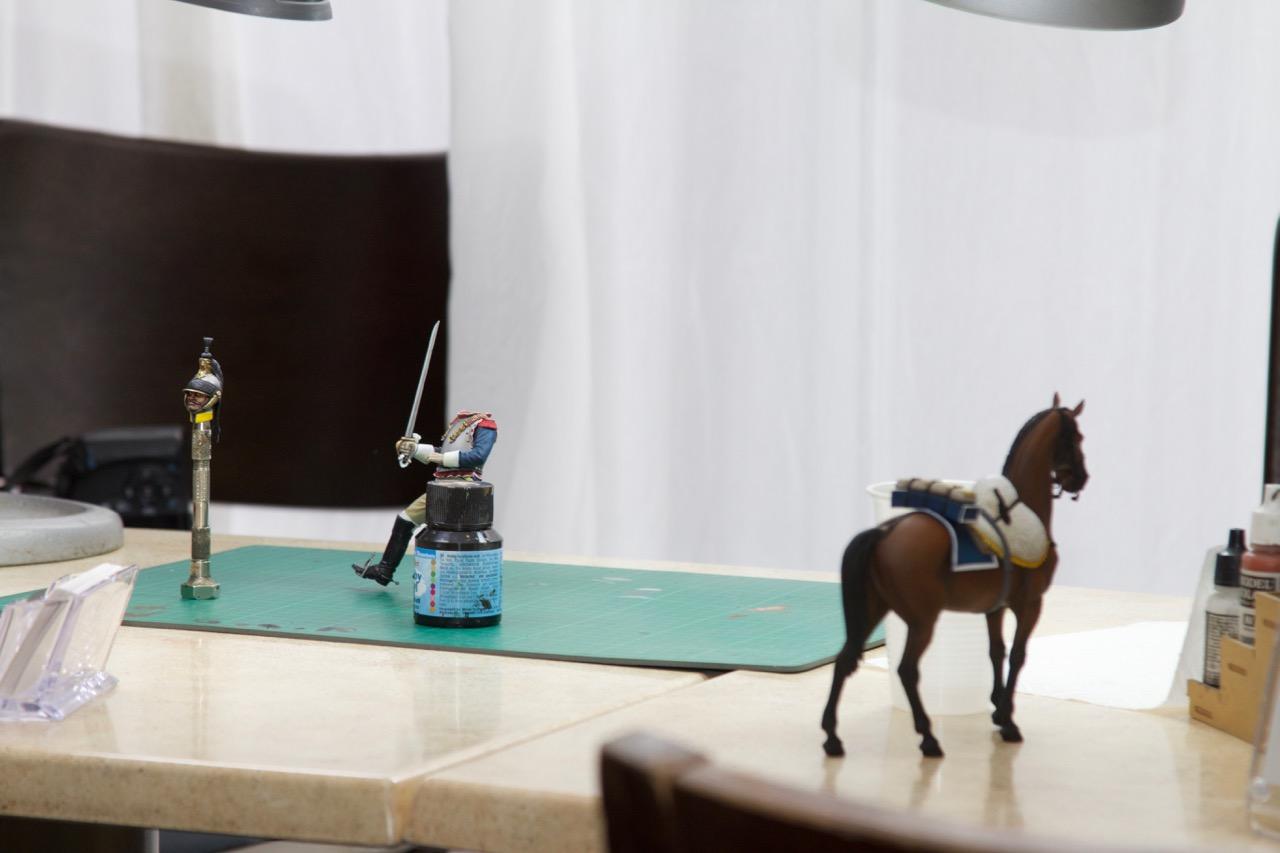 Der kopflose Reiter am Maltisch von Battlebrush Studios